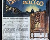 Vintage 1932 RCA Victor Radio Print Ad