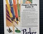 Vintage 1927 Parker Duofold Pens Print Ad