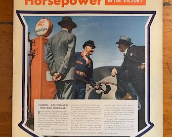 Vintage 1940s Mobiloil Ad