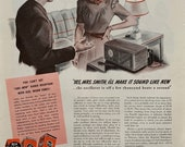 Vintage 1940s RCA Radio Ad, WW2 Era