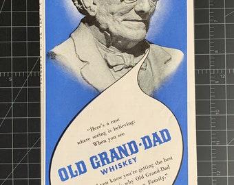 Vintage 1942 Old Grand-Dad Whiskey Print Ad