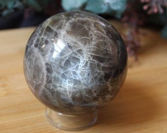 Black Moonstone Crystal Spheres, Moonstone, Moon Lovers, Healing Stones, Home Decor Display Gems, Reiki Tools, Altar Gift, Crystal Spheres