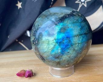 Labradorite Crystal Spheres, Flashy Shimmery Labradorite Crystals, Healing Stones, Home Decor Display Gems, Reiki Tools, Altar Gift