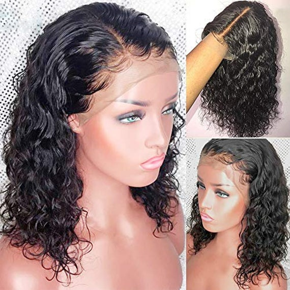 13x4 Lace Front Wig Human Hair Wigs With Baby Hair Short Bob Etsy