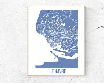 Le Havre - Map - Personalized