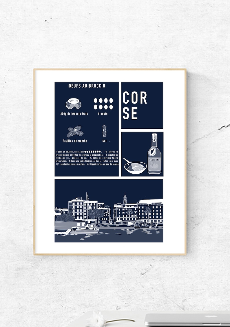 Poster  Corsican recipe  Port of Ajaccio image 0