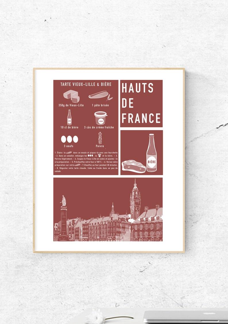 Poster  Recipe Hauts de France  Format A5 Cartonné  Grand image 0