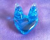 Blue Birds of Happiness Glass Love Birds Figurine 1996 signed Leo Ward Free Shipping
