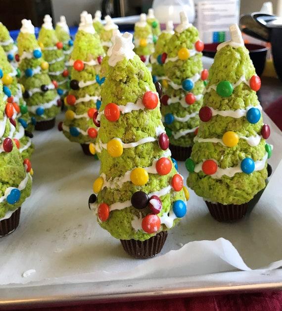 Rice Krispie Treats Christmas Tree.Rice Krispie Treats Christmas Trees