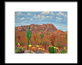 Majestic Ocotillo Desert vintage print Western landscape black and white print desert wonderland desert landscape vintage cowboy print