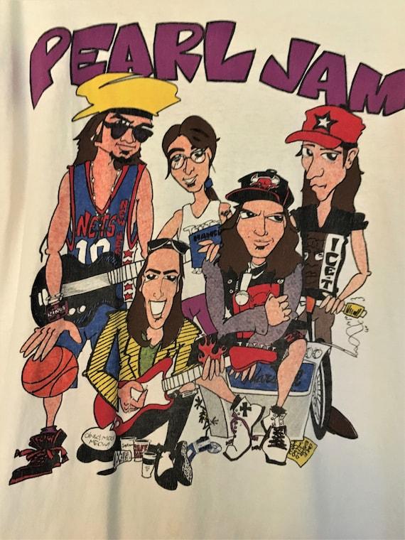 PEARL JAM World Jam Tour 1992 Concert Tee Shirt In