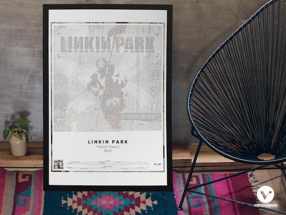 Lyrics On Album Cover Linkin Park Hybrid Theory Wall Art Music Posters Instant Download Artwork Printable Art Living Room Art