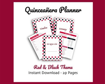 graphic relating to Printable Quinceanera Checklist identified as Quinceanera print Etsy