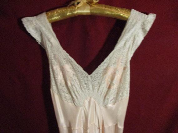 Sweet 1930's Petal Pink Satin Nightgown
