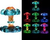 Mushroom Clouds LED Lamp Light, Resin Table Lamp, 3D Print Lamp, USB Rechargeable Gift Bedside Desk Ornamental Adjustable Lamp