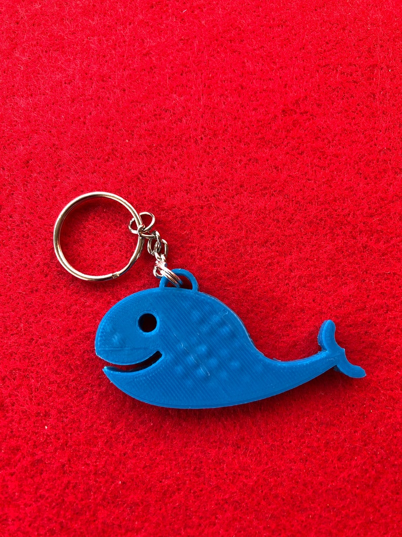 zipper pull birthday favors or goodies lunch bag pull Whale back pack pull custom made 3d printed ornament back to school key chain