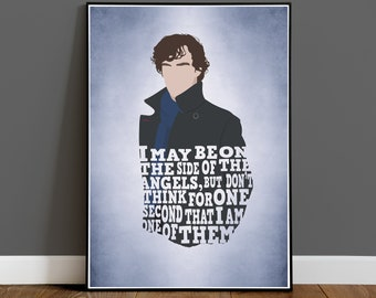 Sherlock Holmes Book Life Quote Poster Posters Print Prints Art Gift Gifts