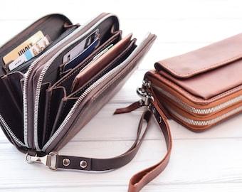4e887141fd43 Leather zip wallet | Etsy