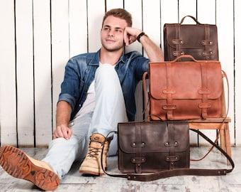 Gift for Him Personalised Satchel Bag College Bag Black Bag Gift for Boyfriend Briefcase Bag Satchel Bag Personalised Bag
