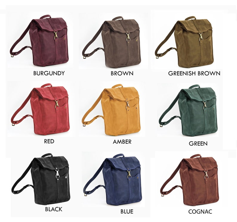 Brown leather backpack menWomens backpack13 /& 15 inch laptop backpack9 colorsPERSONALIZEDFull grain leather
