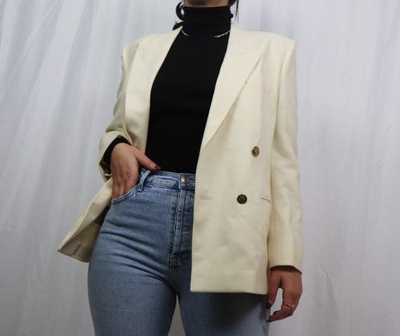 white wool blazer / blazer women / vintage blazer