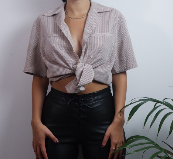 Vintage 1980s button blouse / vintage blouse / 19… - image 2