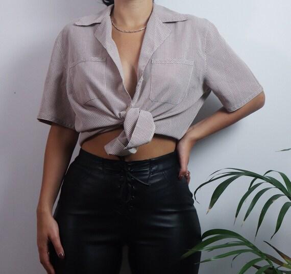 Vintage 1980s button blouse / vintage blouse / 19… - image 7