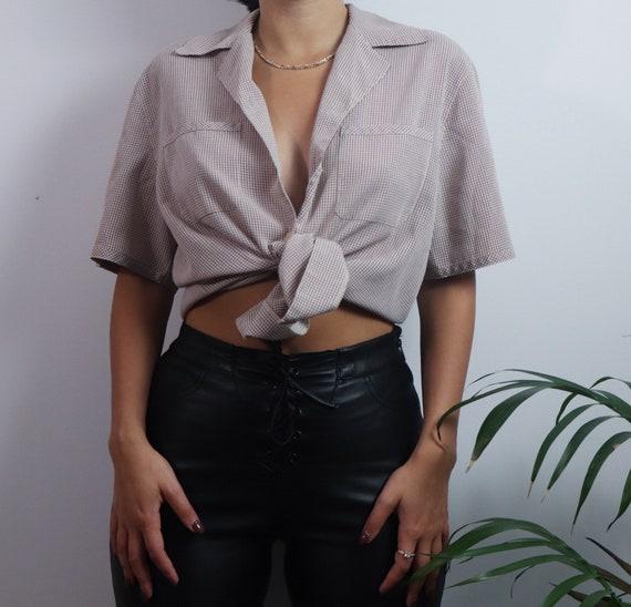 Vintage 1980s button blouse / vintage blouse / 19… - image 8
