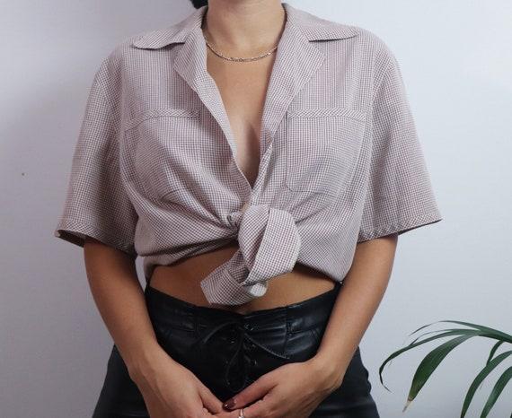 Vintage 1980s button blouse / vintage blouse / 19… - image 6
