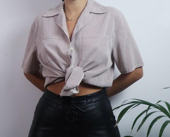 Vintage 1980s button blouse / vintage blouse / 19… - image 5