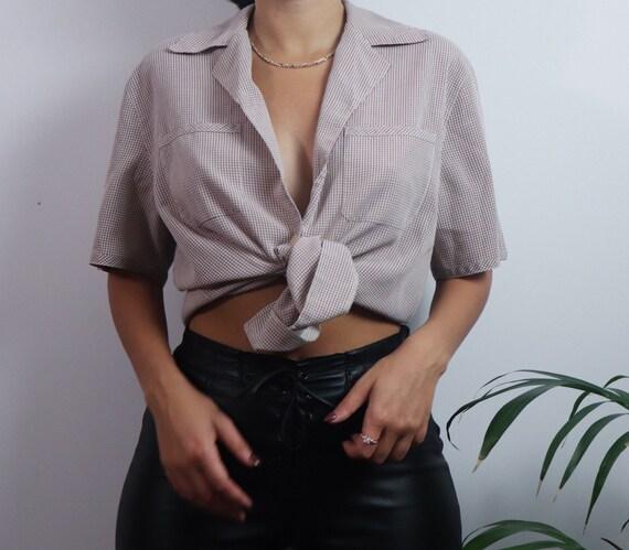 Vintage 1980s button blouse / vintage blouse / 19… - image 3
