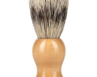 Boar bristle shave brush with solid wood handle. Wet shaver brush. Boar hair brush