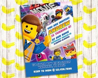 Lego Movie 2 Invites Etsy