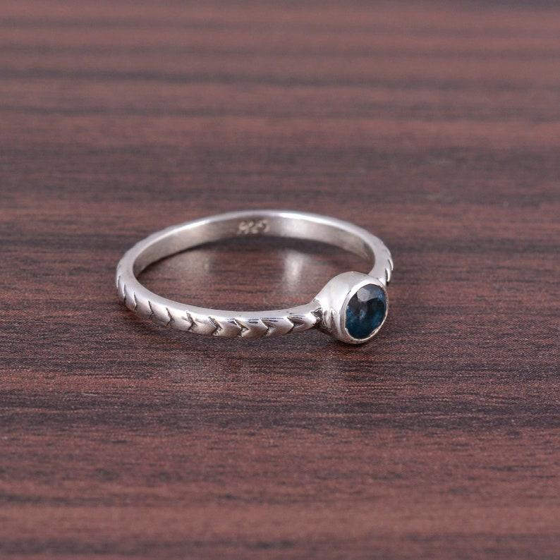 Handmade Ring Topaz Engagement Ring Birthstone Ring Silver Ring 925 Sterling Silver Ring Gift For Her Gift Ring Topaz Ring