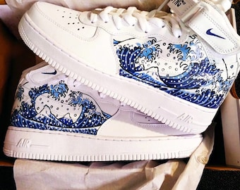 hot sale online 1e358 a0450 Custom Nike Air Force 1  07 High For Men Women Free Shipping-Custom Sneakers  Off White