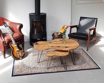 Combo Deal - Coffee Table Set of 2 - Salontafel - Guitar Table- Coffee Table Wood - Mancave - Design Table - Kaffeetisch - Table Basse - Oak