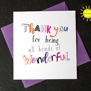 Humorous Thank You Card Thoughtless Bitches Funny Thank You Card