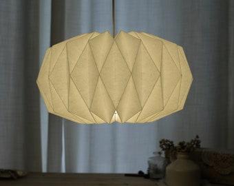 Pumpkin Paper Origami  Lamps, White Paper Lampshade Pendant for Festival Decor