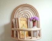 Rattan Shelf - Rattan Wall Shelf - Wicker Wall Shelf - Rattan Rainbow - Boho Décor - Rattan Furniture