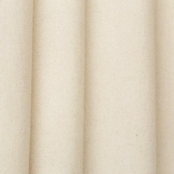 Designer Curtain Fabric Off White Linen blend Textured plain Cushion blind m
