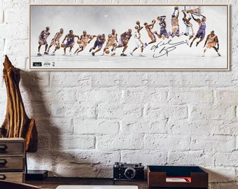 Kobe Bryant Michael Jordan The Last Supper Funny Basketball Silk Fabric Poster