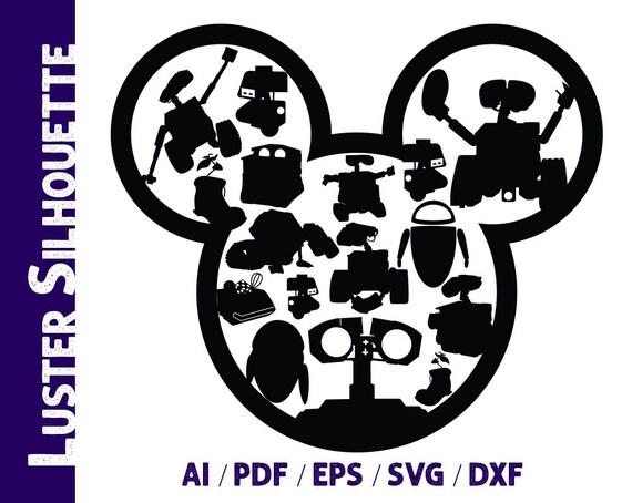 Wall E Svg Wall E Silhouette Disney Wall E Vector Etsy