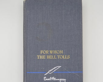 Ernest Hemingway, For Whom The Bell Tolls, The Sun Also Rises, Hardcover, Classic Books, Historical Novel, Vintage Books