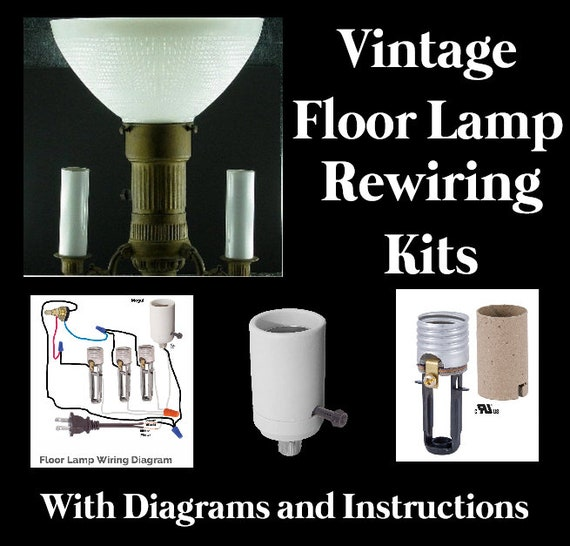 Lamp Rewiring Kit For Vintage Antique 3, Rewire A Lamp
