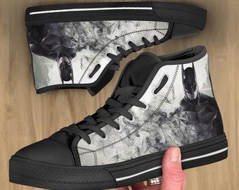 cfc2486fabaa Batman shoes, Batman hi tops, Batman converse style, sneakers for men women  and kids. Birthday gift