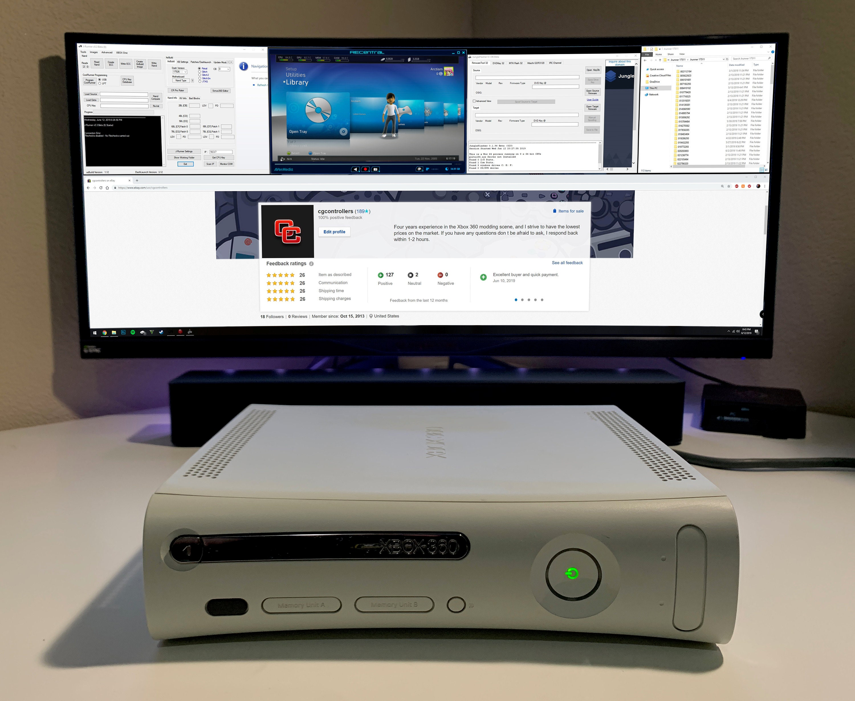 Modded Xbox 360 RGH1 2 Falcon