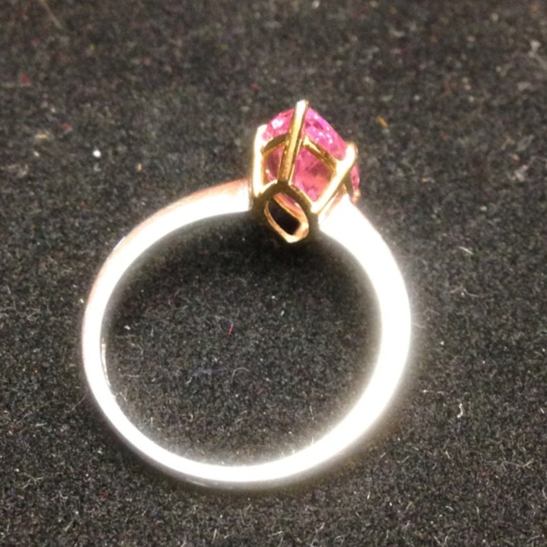 Marquise Solitaire Ring 2.5ct Alternative Pink Diamond 9k White Gold