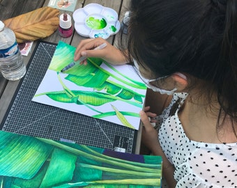 Technical course in watercolor drawing and acrylic painting.