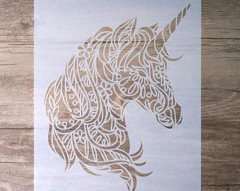Unicorn stencil | Etsy
