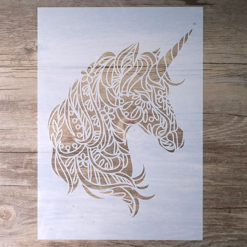 Unicorn Stencil For Wall Painting Painting Stencil Wall Stencil Diy Decor Stencil Scrapbooking Stencil 19810